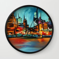 City Scapes Wall Clock