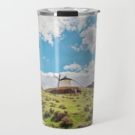 Traditional white windmills Travel Mug