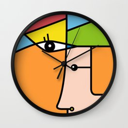 Rostros abstractos Wall Clock