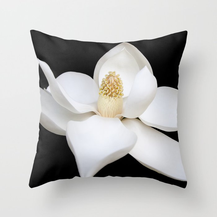 "HOME DECOR,""Wake Up and Smell the Lilies"",Black,White,Pillows,Wall Tapestries,ART prints,Wall Art Throw Pillow"