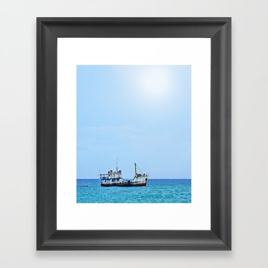 RUST FLOATS (Guadacanal, Solomon Islands) Framed Art Print