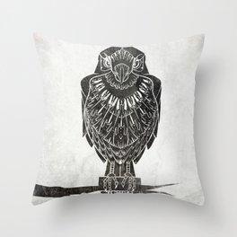 Listen To The Owl Throw Pillow
