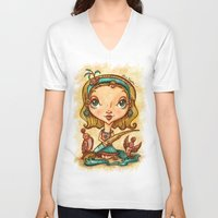 "artsy V-neck T-shirts featuring ""Artsy Aura"" by Alicia Templin"