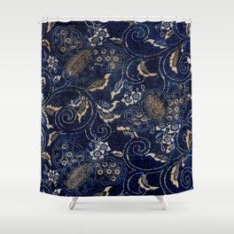 Indigo Jap Fabric Shower Curtain