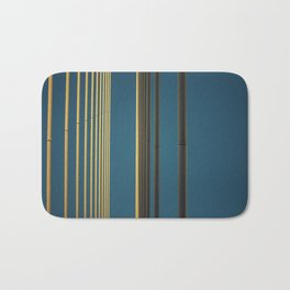 Yellow lines into the sky Bath Mat