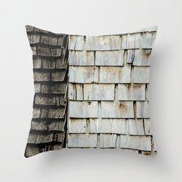CHOCOLATE VANILLA SHAKE Throw Pillow