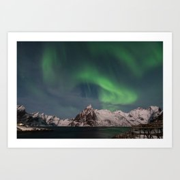 Northern Lights Over Lofoten Art Print