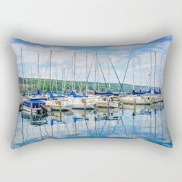 Glen Harbour Marina Rectangular Pillow