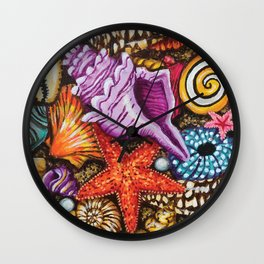 Treasure of the sea Wall Clock