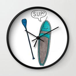 SUP Stand Up Paddleboard Cute! Wall Clock