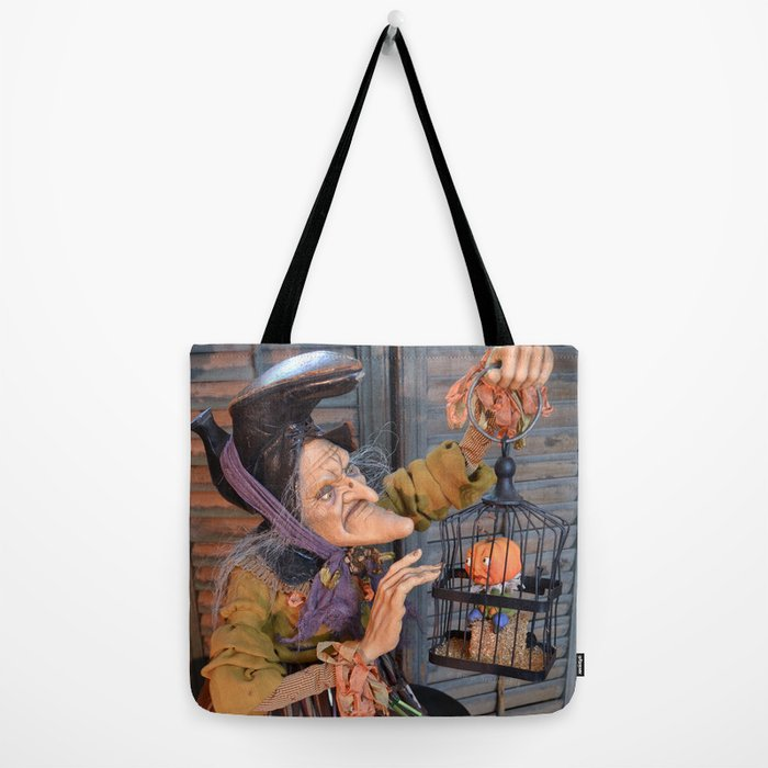 83edb97c342d Rucus Studio Maddie the Eccentric Witch Tote Bag by rucusstudio | Society6