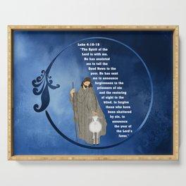 Jesus of Nazareth the Good Shepherd Serving Tray