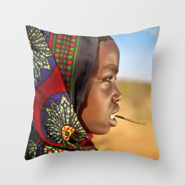 Borana Girl Throw Pillow