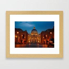 Basilica Papale di San Pietro in Vaticano - ROME Framed Art Print
