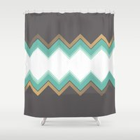 chic Shower Curtains featuring Chic by Katayoon Photography
