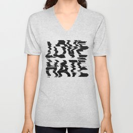 Love or Hate Unisex V-Neck