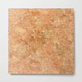 Peach Cobbler Oil Painting Color Accent Metal Print