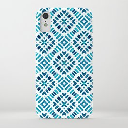 Shibori Watercolour no.7 Turquoise iPhone Case