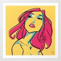 CMYK GIRL Art Print
