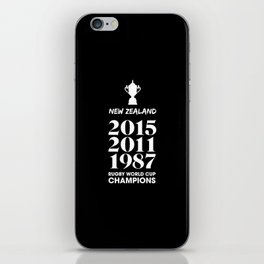 New Zealand Treble Rugby World Cup Champions iPhone Skin