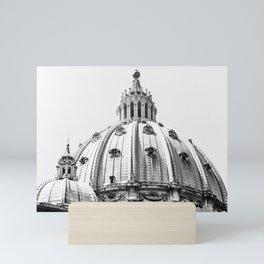 Saint Peters Square Vatican City, Rome, Italy B/W Photo by Larry Simpson Mini Art Print