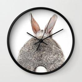 Bunny Butt Wall Clock