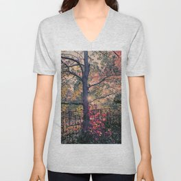 Lightful Autumn Tree Unisex V-Neck