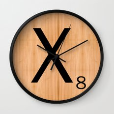 Scrabble Letter Tile - X Wall Clock
