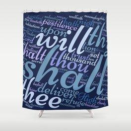 Christian Psalm 91 Word Art Shower Curtain