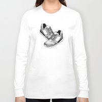 sneakers Long Sleeve T-shirts featuring Sneakers by Addison Karl