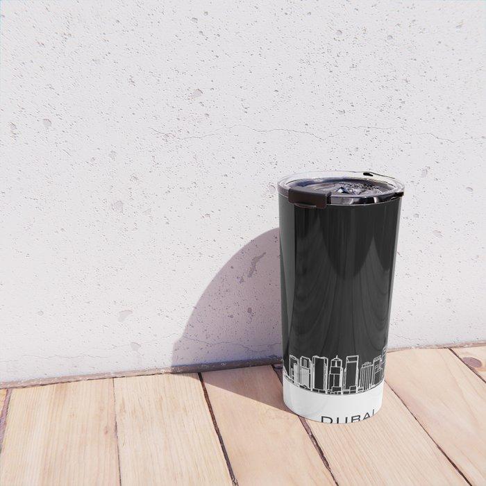 Dubai Skyline - Black Base Travel Mug