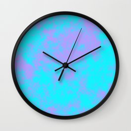 Cotton Candy Clouds - Purple & Blue Wall Clock
