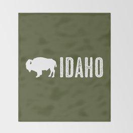 Bison: Idaho Throw Blanket