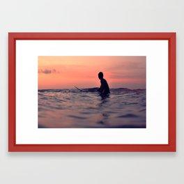 Surfing Cocoa Beach FL Framed Art Print