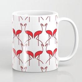 Birds Red Flamingos on the Beach Coffee Mug