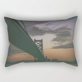 Ben Franklin Bridge Rectangular Pillow