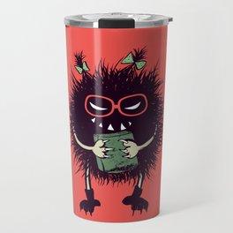 Evil Bug Student Loves To Read Travel Mug