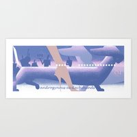 Androgynous as dachshunds Art Print