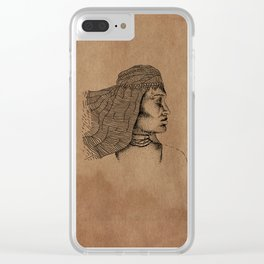 desert woman Clear iPhone Case