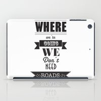 back to the future iPad Cases featuring back to the future by christopher-james robert warrington