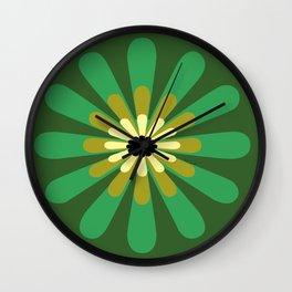 Green Flower Decor design Wall Clock