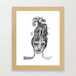 London Holds My Mind Open Framed Art Print