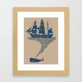 Exhaling Flotsam Framed Art Print