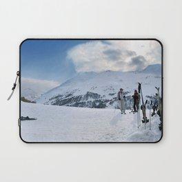 Ski Resort Mountain Landscape Laptop Sleeve