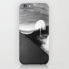 Abstract Flowers. Black and White. Flowers. Mountains. Landscape iPhone Case