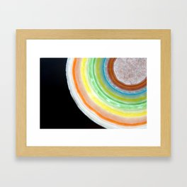 Colorful Abstract Slice of Giant Jawbreaker Candy Framed Art Print
