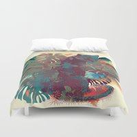 panther Duvet Covers featuring Panther Square by Ludovic Jacqz