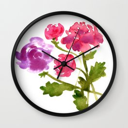 Floral No. 1 Wall Clock