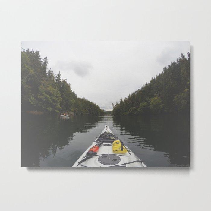 Live the Kayak Life Metal Print