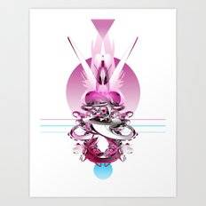 In Love (With Herself) Art Print